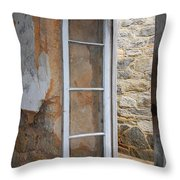 Thru The Prison Window Throw Pillow