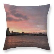 Ths City Sunset Throw Pillow