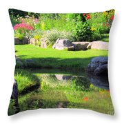 Thula Garden's Water Reflections Throw Pillow