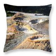 Thumb Paint Pots Yellowstone Np 1928 Throw Pillow