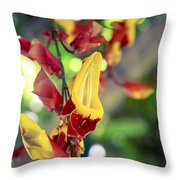 Thunbergia Mysorensis - Trumpetvine Throw Pillow