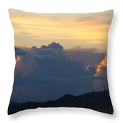 Thunder Bumpers Throw Pillow