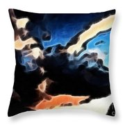 Thunder Clouds Expressive Brushstrokes Throw Pillow