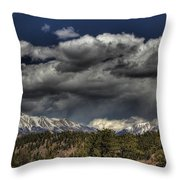 Thunder Mountains Throw Pillow