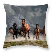Thunder On The Plains Throw Pillow by Daniel Eskridge
