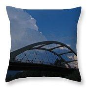 Thunder Over The Rogue River Bridge Throw Pillow