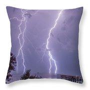 Thunderation Throw Pillow