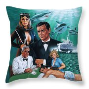 Thunderball Throw Pillow
