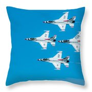 Thunderbird In Formation  Throw Pillow