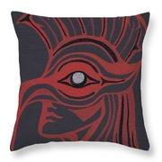 Thunderbird Mask Throw Pillow