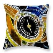 Thunderbird Spokes Fractal Throw Pillow