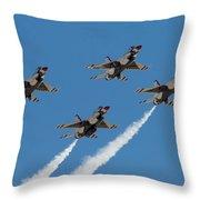 Thunderbirds Diamond Flyover Throw Pillow