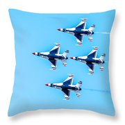 Thunderbirds Flying Over Throw Pillow