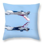 Thunderbirds In A Dangerous Formation Throw Pillow