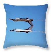 Thunderbirds Jet Team Perfect Symmetry Throw Pillow