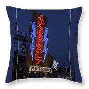 Thunderbolt Rollercoaster Neon Sign Throw Pillow