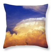 Thunderhead Throw Pillow by Skip Nall
