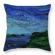 Thunderheads Throw Pillow by First Star Art