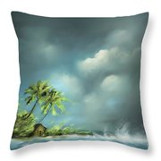 Thunderstorm At Jupiter Beach Throw Pillow