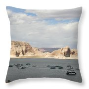 Thunderstorm Atmosphere Over Lake Powell Throw Pillow