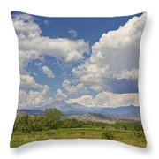 Thunderstorm Clouds Boiling Over The Colorado Rocky Mountains Throw Pillow