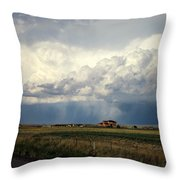 Thunderstorm On The Plains Throw Pillow
