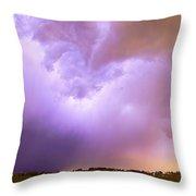 Thunderstorm Tidal Wave Throw Pillow