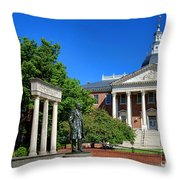 Thurgood Marshall Memorial And Maryland State House Throw Pillow
