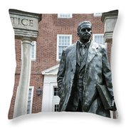 Thurgood Marshall Memorial Throw Pillow
