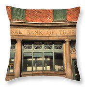 Thurmond Bank Of West Virginia Throw Pillow