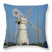 Thurne Windpump Throw Pillow