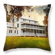 Thursby House Blue Springs Throw Pillow