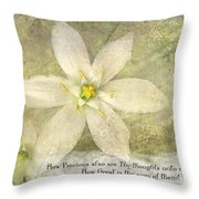 Thy Thoughts Throw Pillow