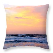 Topsail Island Pastel Sunrise Throw Pillow