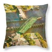 Ti Swingin' Swing Bridge Throw Pillow by Betsy Knapp