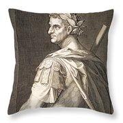 Tiberius Caesar Throw Pillow by Titian