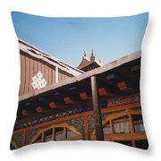 Tibet Potala Palace 8 Throw Pillow