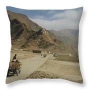 Tibet Rural Throw Pillow
