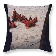 Tibet Sera Debate Throw Pillow
