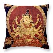Tibetan Art Throw Pillow