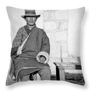 Tibetan Gunslinger Throw Pillow