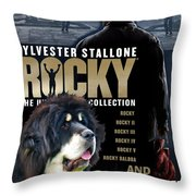 Tibetan Mastiff Art Canvas Print - Rocky Movie Poster Throw Pillow