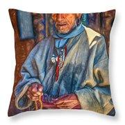 Tibetan Refugee - Paint Throw Pillow