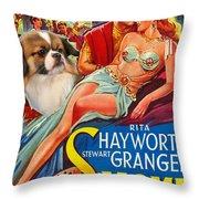 Tibetan Spaniel Art - Salome Movie Poster Throw Pillow