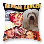 Tibetan Terrier Art - The Lives Of A Bengal Lancer Movie Poster Throw Pillow