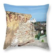 Tiburon And Basketball Court At The Top Of The Fort Wall Throw Pillow