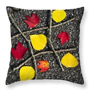 Tic-tac-toe Throw Pillow by Christina Rollo