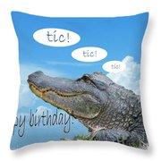 Tic Tic Tic Throw Pillow