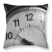 Tick Tock Goes The Clock 3 Throw Pillow