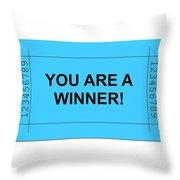 Ticket Blue Throw Pillow